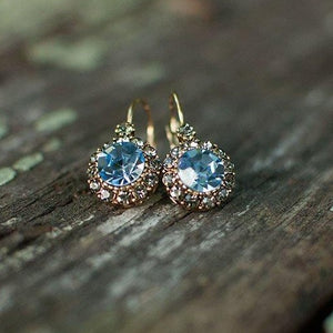 Vintage Earring Princess Blue