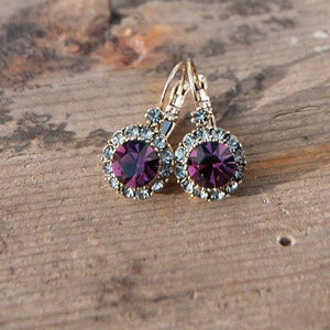 Vintage Earring Dark Purple