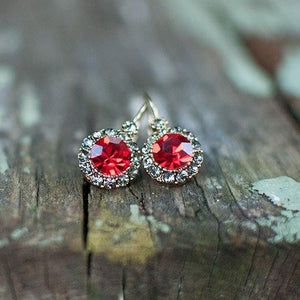 Vintage Earring Light Red