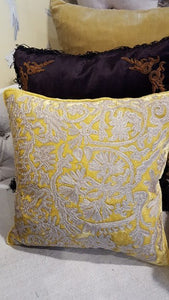 Cushion Citrine Embrodery