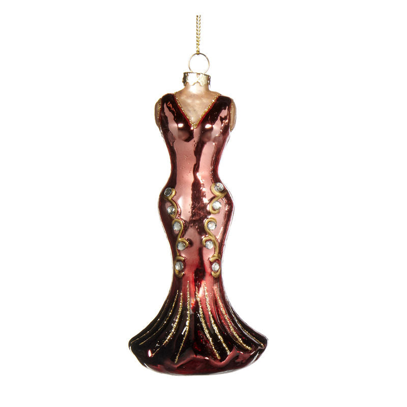 Mannequin Dress Ornament Pink Red