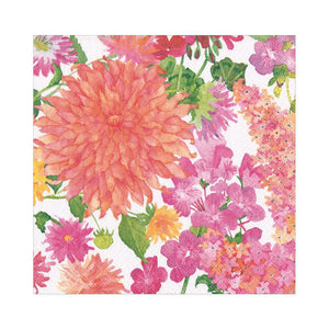 Paper Napkin Summer Blooms Lunch