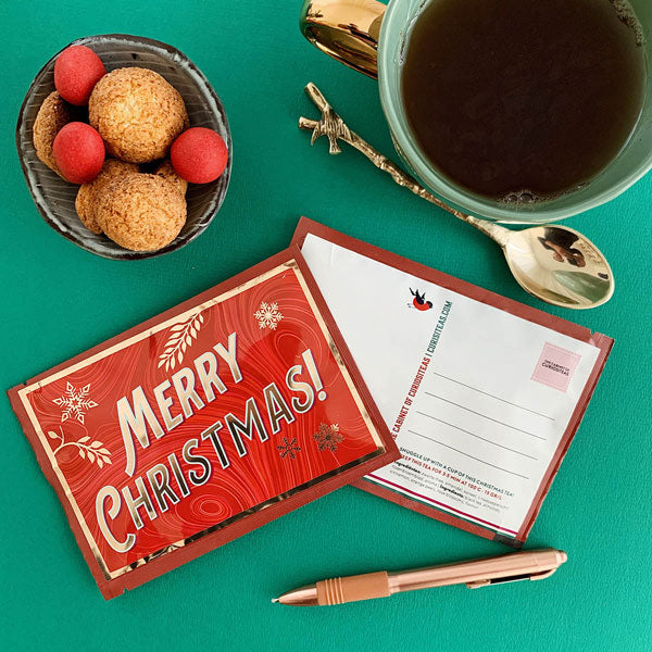Tea Postcard - Merry Christmas