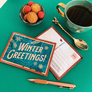 Tea Postcard - Winter Greetings