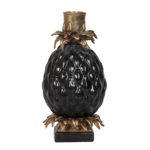 Candleholder Pineapple Black
