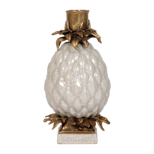 Candleholder Pineapple White