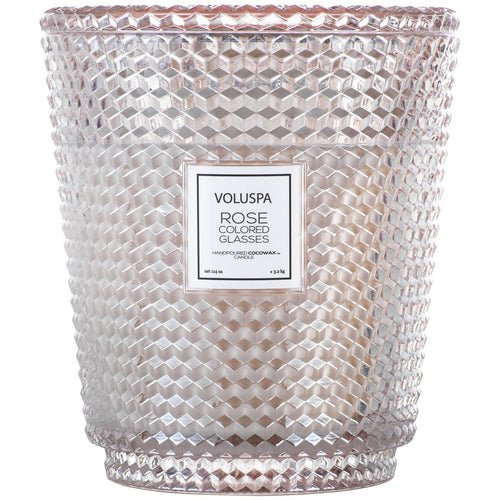 Voluspa Rose Colored Glasses Heart Candle