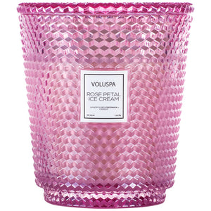 Voluspa Rose Petal Ice Cream Heart Candle