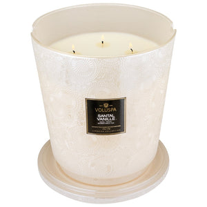 Voluspa Santal Vanille Heart Candle