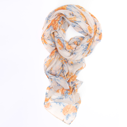 Orange Carnations Hijab/Scarf