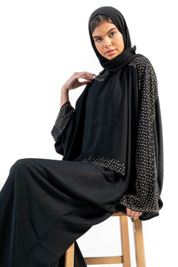 Jannat Closed Abaya -Midnight Black