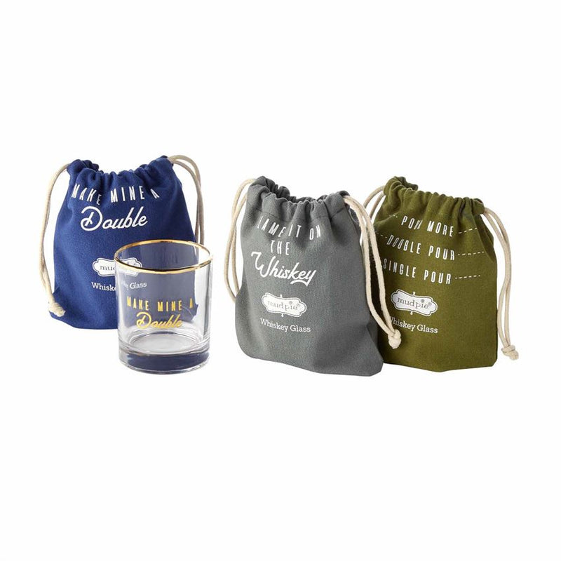 Whiskey Glass & Bag Set (Various Colors)