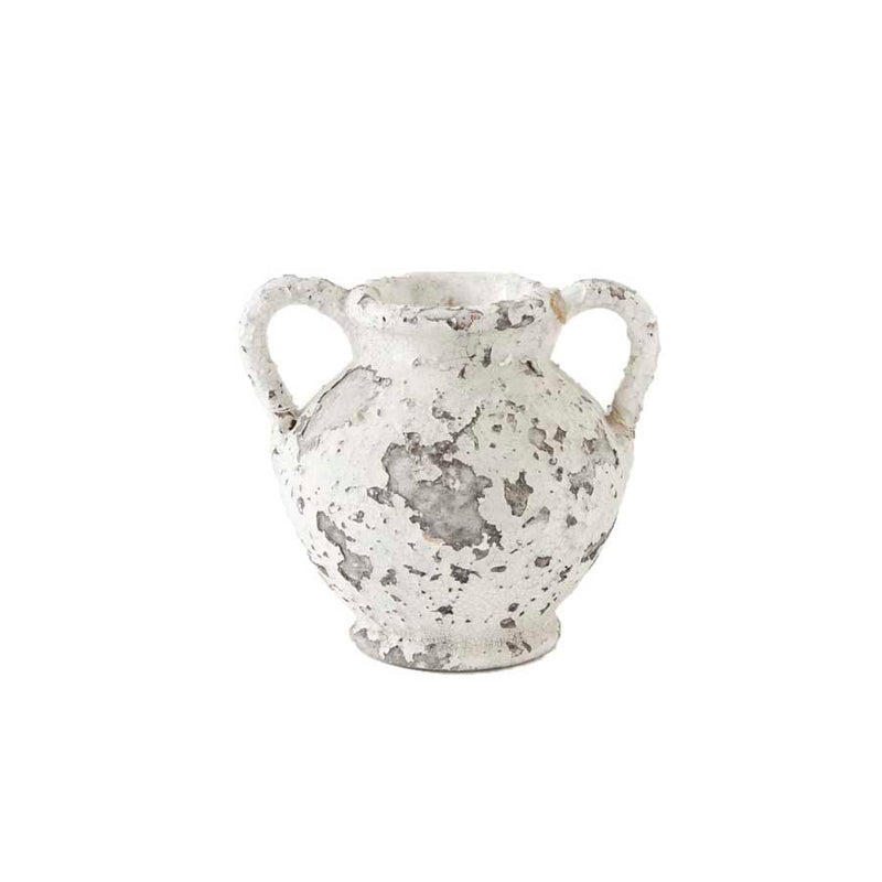 White Crackle Vase
