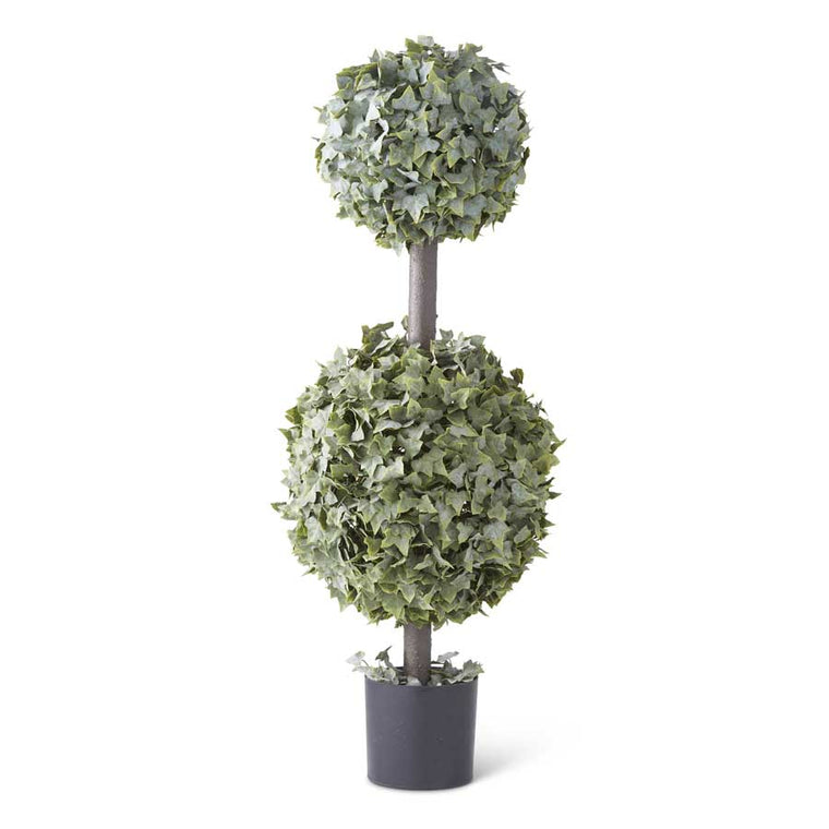 Real Touch Powdered English Ivy Double Ball Topiary (Various Sizes)