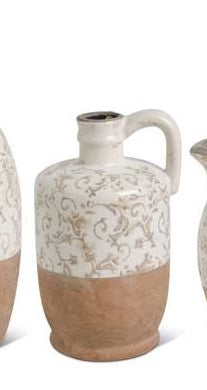 Brown Crackle Vases (Various Sizes)