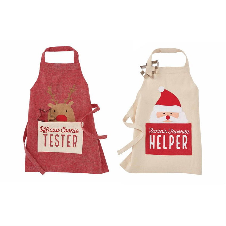 Toddler Christmas Aprons and Cookie Cutter Set (Various Styles)
