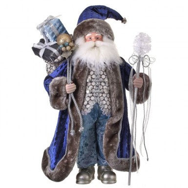 Winter Blue Santa with Snowflake Staff