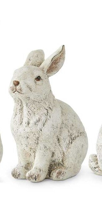 White Resin Bunnies (Various Styles)