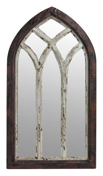 Weathered Arched Window Pane Mirror (Various Colors)