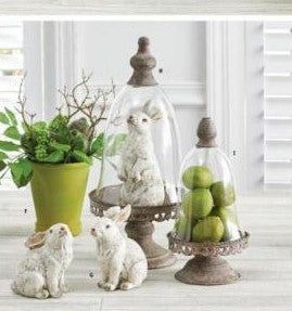 Medium White Resin Bunnies (Various Styles)