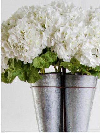 "20"" White Real Touch Hydrangea Stem"