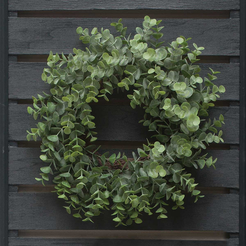 "12.5"" Grey Eucalyptus Wreath"