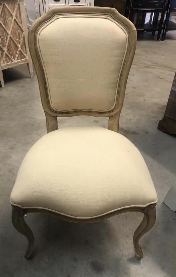 Square Linen Dining Chairs
