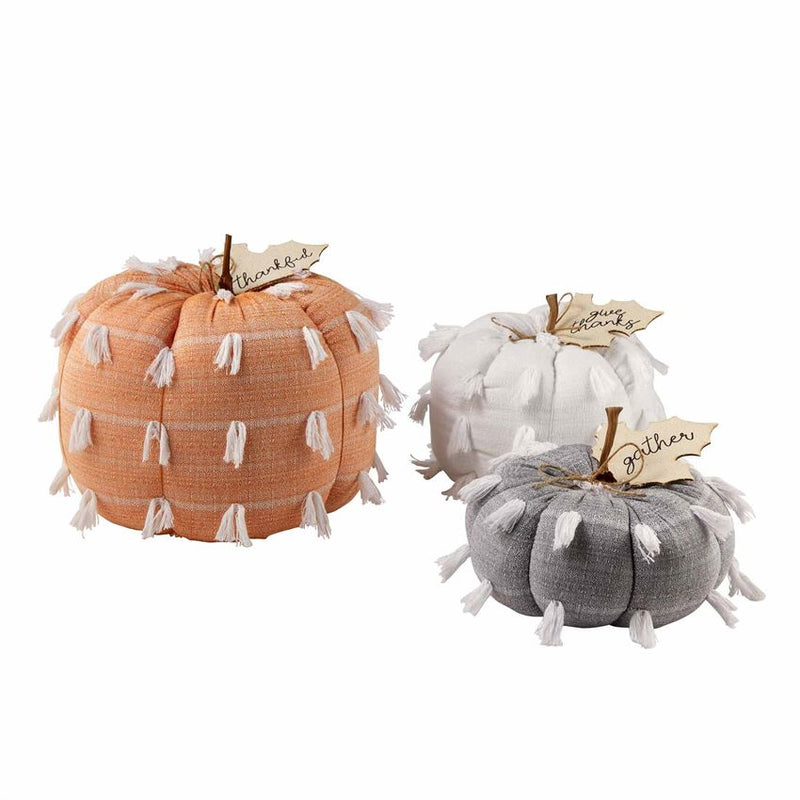 Stuffed Fringe Pumpkins (Various Sizes)
