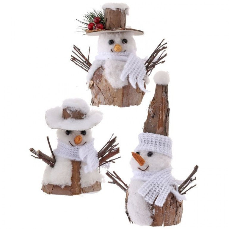 Natural Snowman Ornament (Various Styles)