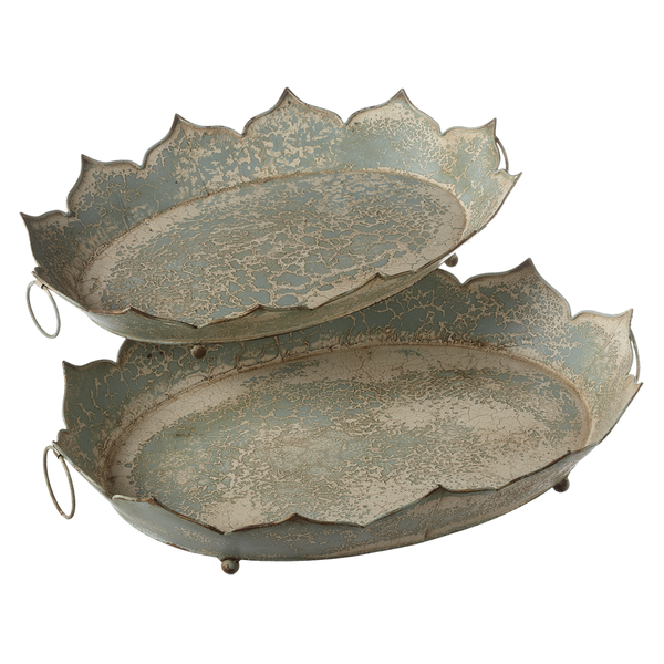 Decorative Petal Tray, Green (Various Sizes)