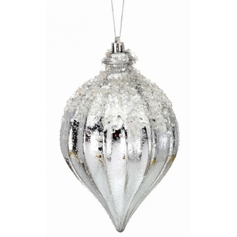 Iced Kismet Finial Orb Ornament