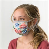 Watercolor Floral Protective Cover Mask