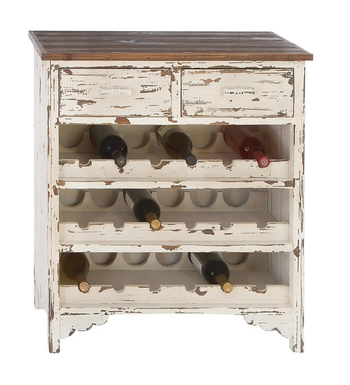 Distressed Wood Wine Cabinet