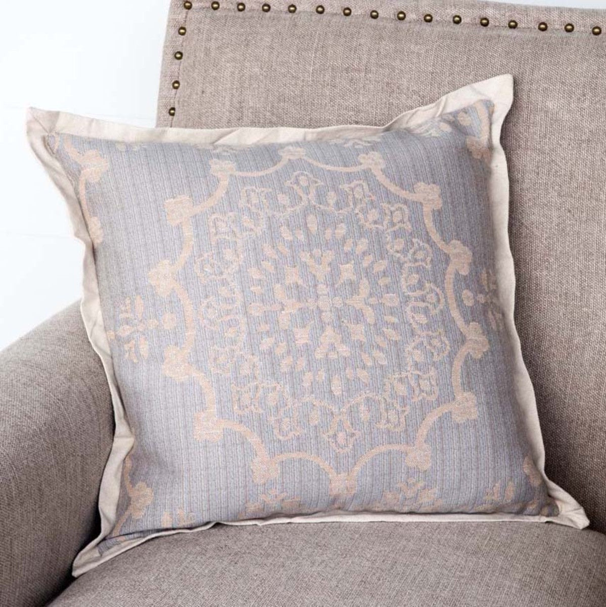 Weathered Blue Down Pillow