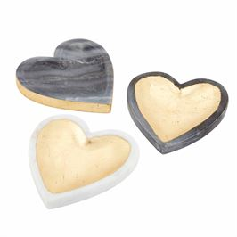 Marble Heart Trinket Tray (Various Colors)