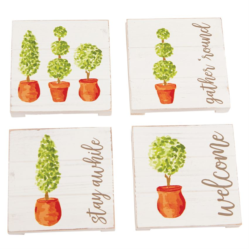 Topiary Coaster Set, Set of 4
