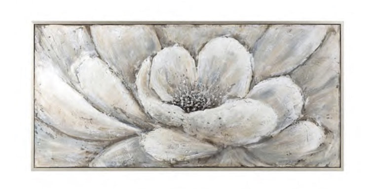 Abstract Floral Framed Oil Painting