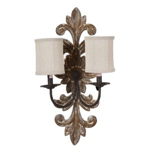 Movable Distressed Wall Sconce