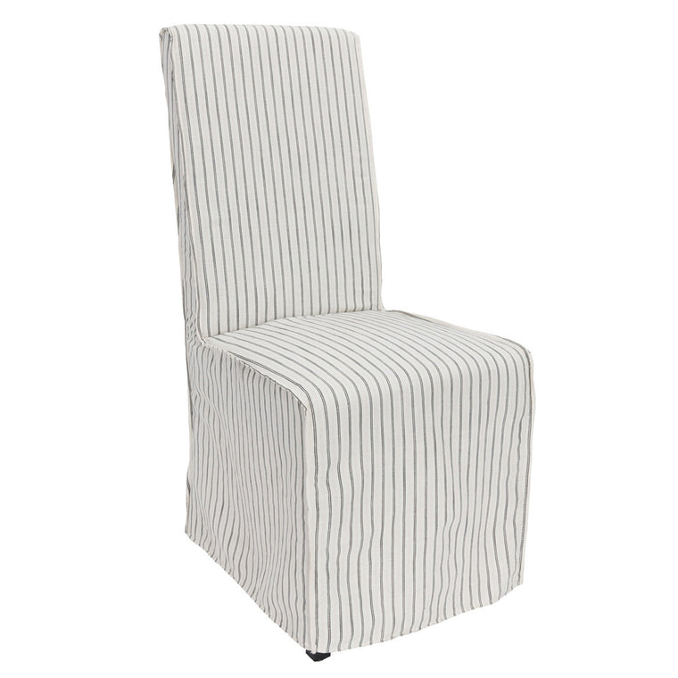 Striped Upholstered Dining Chair