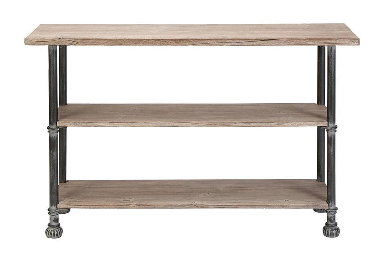 Metal & Wood Console Table