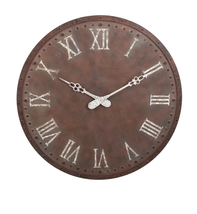 Oversized Rustic Wall Clock