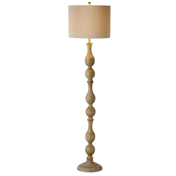 Faux Wood Turned Floor Lamp