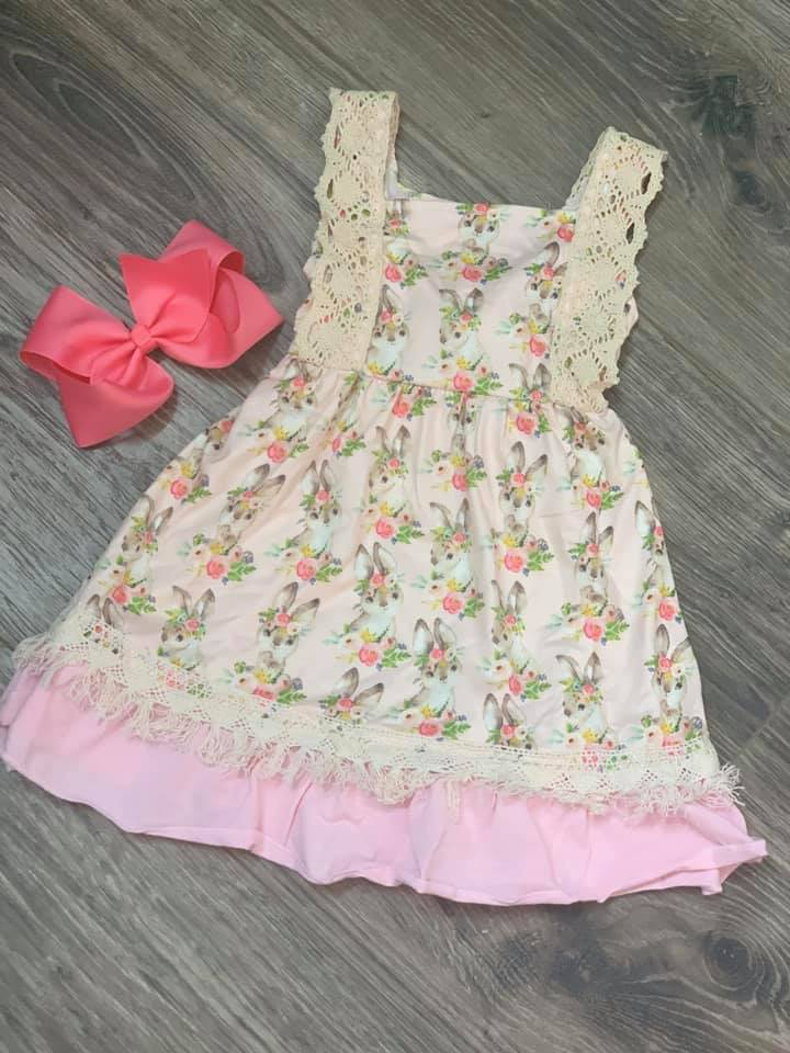 Girls' Floral Bunny Dress