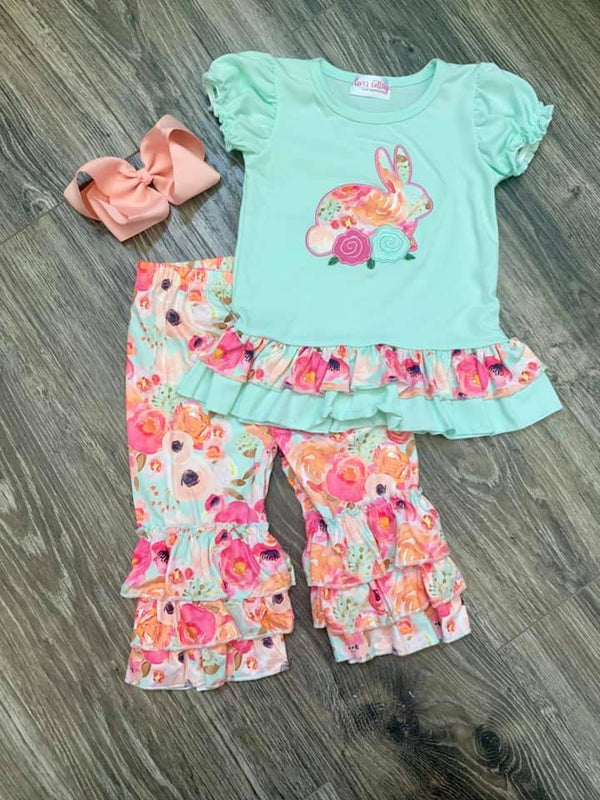 Girls' Boutique Applique Bunny Set