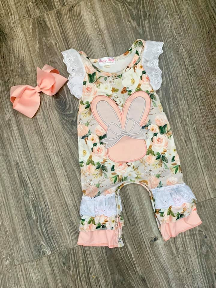 Baby Girls' Boutique Easter Romper