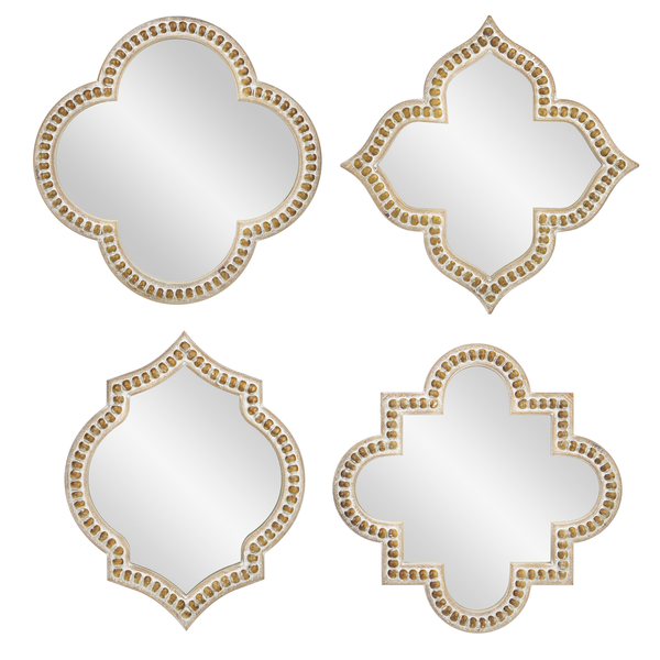 Beaded Framed Geo Wall Mirrors (Various Styles)