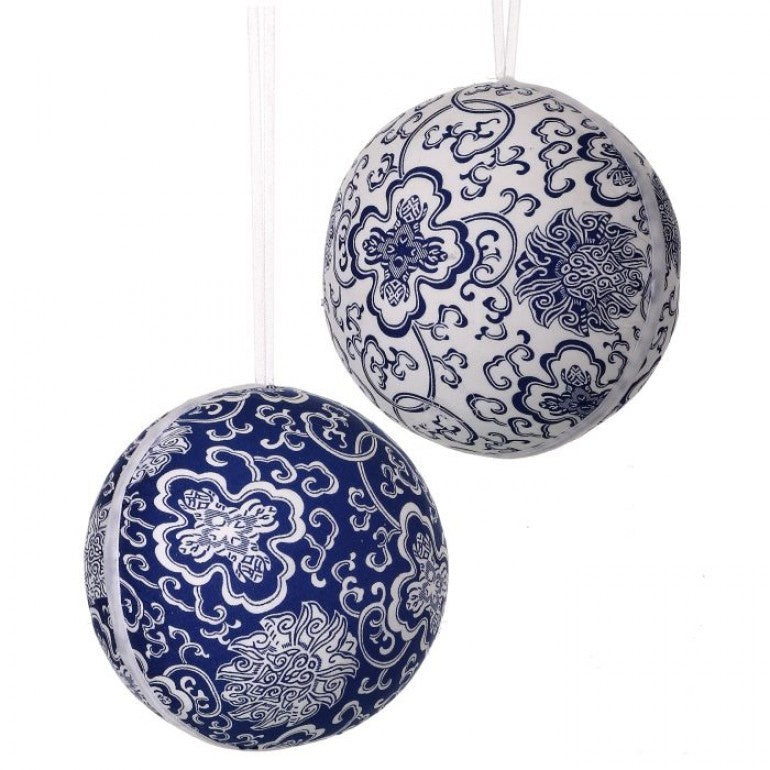 Fabric Bloomsbury Ball Ornament (Various Styles)