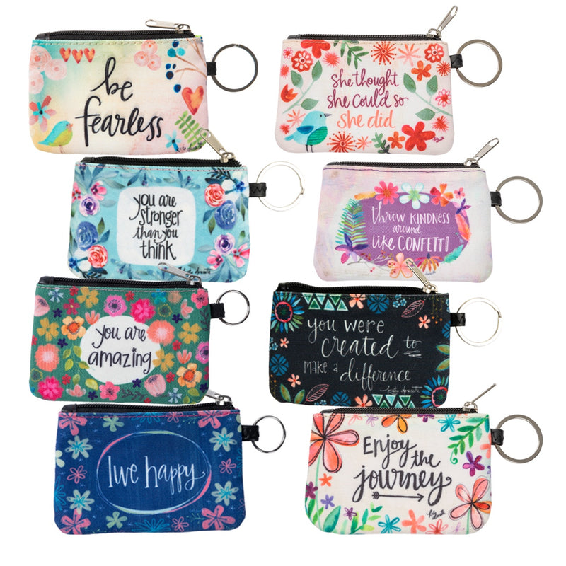 Inspirational ID Wallet Keychain (Various Styles)