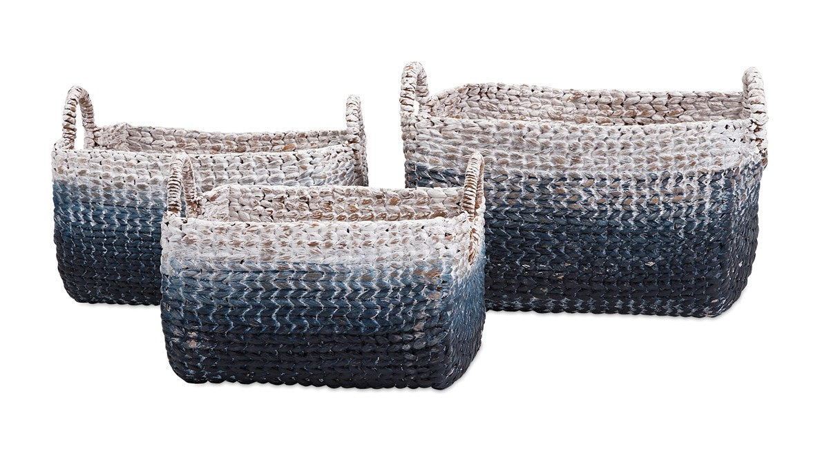 Blue Woven Storage Baskets (Various Sizes)