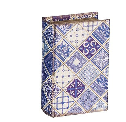 Blue Patterned Book Boxes (Various Styles)
